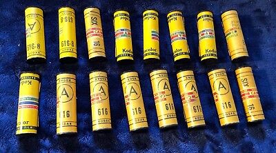 Lot of 16 Vintage Expired Kodacolor 616 Film Rolls Kodak Color for Daylight