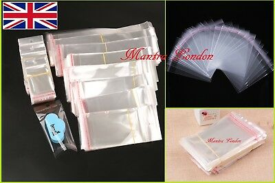 Transparent Wrap Bag ALL SIZE Film SELF SEAL FLAP Pouch Gift Packing