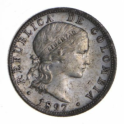 1897 Colombia 10 Centavos - Near Uncirculated *8555