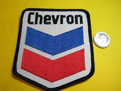 Chevron Gas & Oil Uniform Cloth Patch Crest Size Look And Buy! Best Embroidery