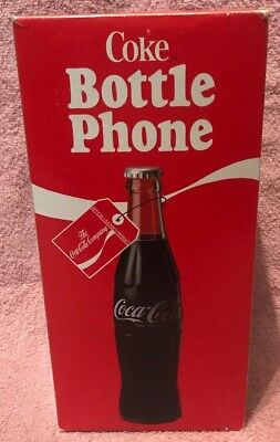 Vintage 1983 Coca-Cola Coke Bottle Phone Model 5000 in Original Box