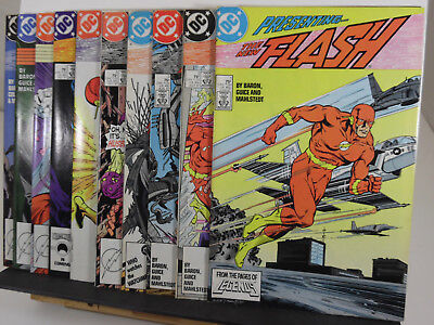 THE FLASH Lot (1987-88, DC Comics) 1 2 3 4 5 6 7 8 9 10