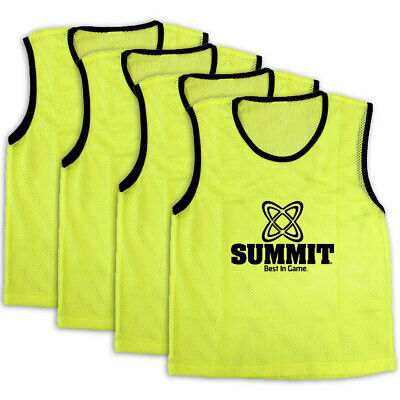 4PK Summit Extra Large Sport/Soccer/Rugby Training Mesh Bibs/T-Shirt Vest Yellow