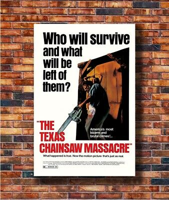 Hot Poster THE TEXAS CHAINSAW MASSACRE Movie Horror Leatherface 36x24 Z1419