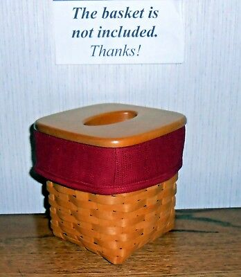 Tall Tissue Basket Liner from Longaberger Paprika fabric! New!
