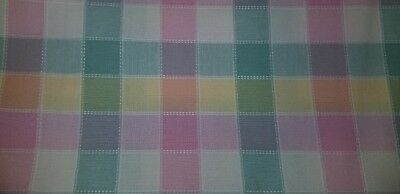 Longaberger Pastel Plaid fabric. 1 and 3/4 yard piece. 62 inches wide!