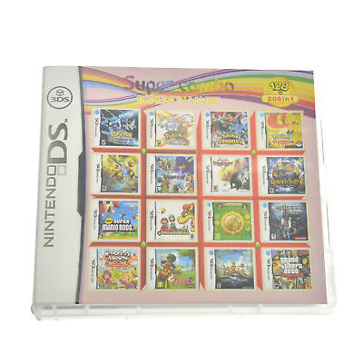 208 In 1 Games Game Multi Cartridge For Nintendo DS NDS NDSL NDSi 3DS 2DS XL US
