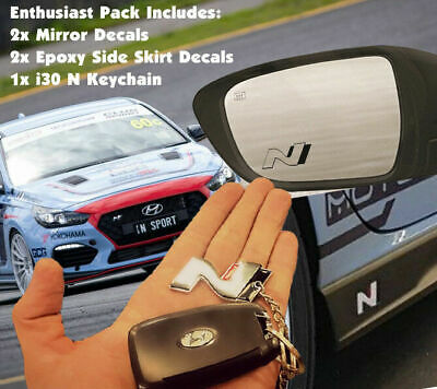 Hyundai i30 N Enthusiast Pack - Decal/Sticker Keyring Turbo Race i30n Veloster