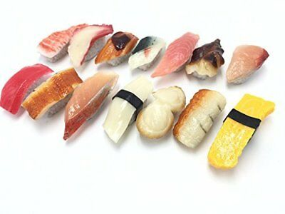 Food sample sushi 14 pieces set realistic can rich variations Japan