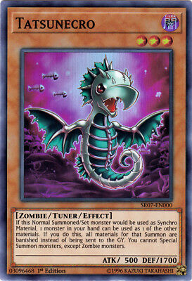 Yugioh! Tatsunecro - SR07-EN000 - Super Rare - 1st Edition Near Mint, English