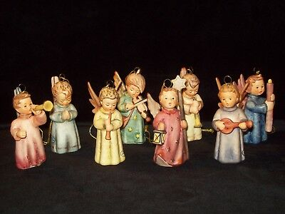 Hummel Lot Of 8 Complete Annual Set Of 1993 - 2000 Christmas Ornaments
