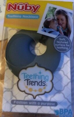 Nuby Silicone Teething Necklace for Mom & Baby - Teether necklace, New