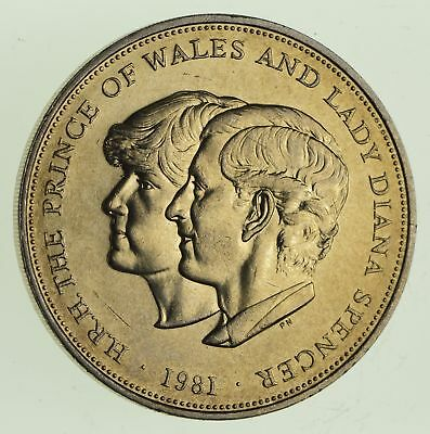 1981 Great Britain 25 New Pence - Royal Wedding - World Coin *480