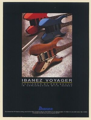 1991 Ibanez Voyager Guitar Designed by Reb Beach Print Ad