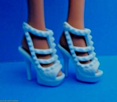 Barbie Doll Shoes Fashionistas Blue Strappy Studded Heels Also Fit Petite