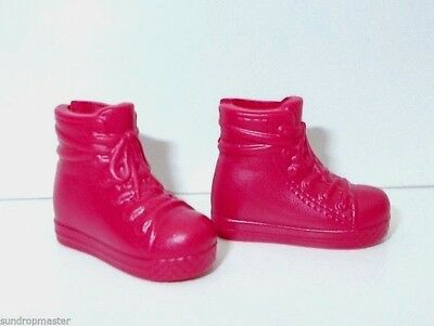 Barbie Skipper Shoes Maroon Flat Sneakers Also Fit Fashionistas PETITE Dolls