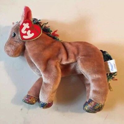 Mint Ty Beanie Baby Babies Zodiac Horse MWMT Chinese Astrology Retired New 2000