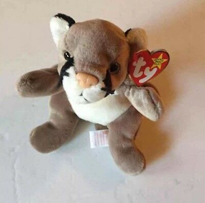 MWMT Canyon Ty Beanie Baby Babies Cougar Mountain Lion Big Cat Retired 1998 New
