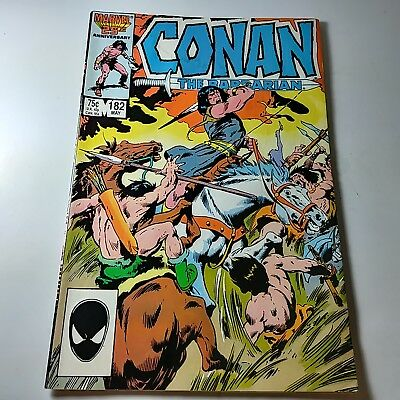 Conan The Barbarian By Marvel 25 TH Anniversary #182 MAY 1986 In Good Condition
