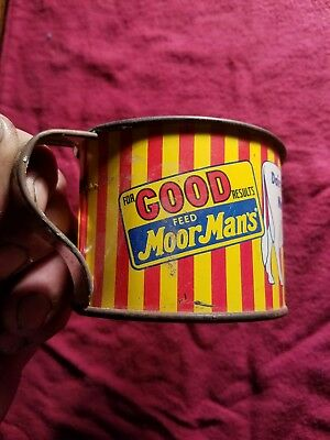Vintage Moormans dairy Mintrate tin litho measuring cup