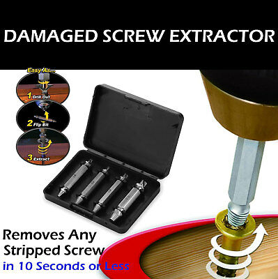 Damaged Screw Remover Extractor Easily Remove Stripped Damaged Screws Set of 4