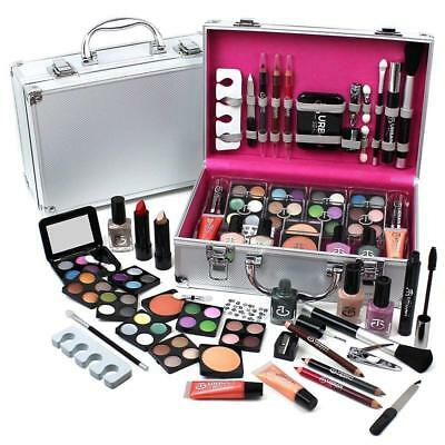 60Pc Makeup kit Cosmetic Make Up Beauty Box Travel Carry Gift Set Xmas Gift Box