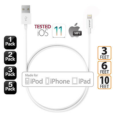 iPhone 2m/3m Charger Lightning Cable Apple MFi Certified For iPhone Xs,Xs Max,XR