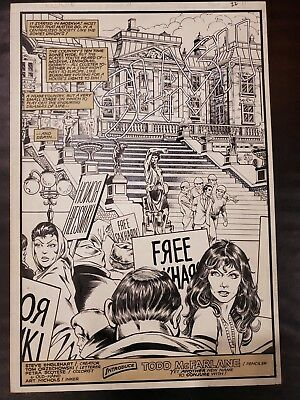 Todd McFarlane Original Art.  Coyote #11 1st Page and 1st Published Work!