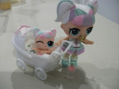 Plastic Doll Pram to suit Lol Lil Sister Sized Dolls with Soft Liner Pad (4)