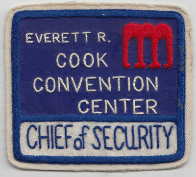 Everett R. Cook Convention Center Chief of Security patch. See photo.