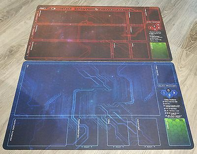 Android Netrunner LCG  Playmats Corp & Runner NEW 2 mat set Fabric Rubber backed