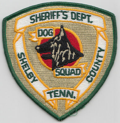 Shelby County, Tenn. Sheriff's Dept. Black Dog Squad patch. See photo.