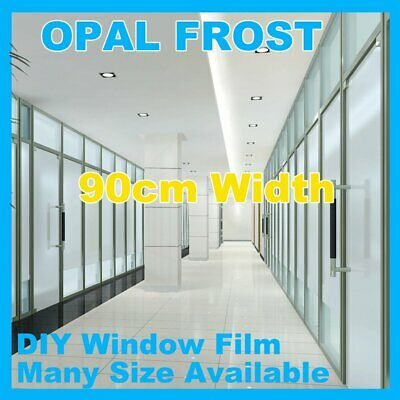 90cm 9/10m Sand Blast Clear Privacy Frosted Frosting Removable Window Glass Film