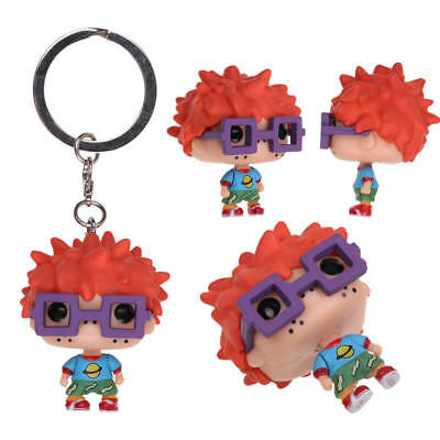 Nickelodeon Rugrats Chuckie PVC Figure Keyring keychain Gift Toys