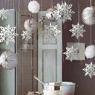 Snowflakes Hanging Decorations Christmas Party Pendant Xmas Ornaments Home Decor