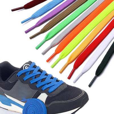 Colorful Shoelaces Coloured Flat Fat Round Bootlace Sneaker shoe laces 100-160cm