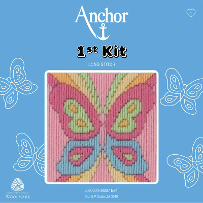 Beth - Butterfly - Long Stitch - Anchor 1st Kit - 3690000-30007