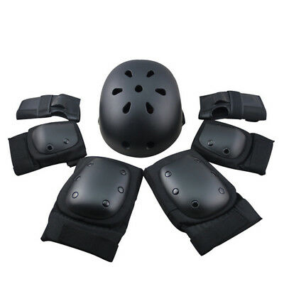 7Pcs Set Sport Safety Protective Gear Elbow Wrist Knee Pads and Helmet Guard