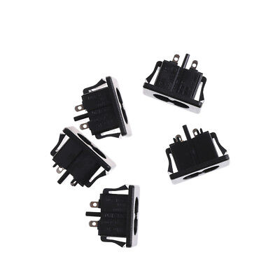 5Pcs AC250V 2.5A IEC320 C8 Male 2 Pins Power Inlet Socket Panel Embedded//
