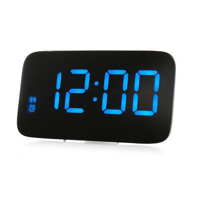 Large LED Digital Alarm Snooze Clock Voice Control Time Display Led Screen Color