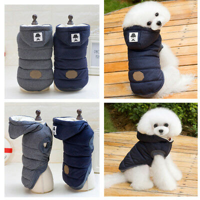 New Pet Dog Cotton Winter Warm Padded Hooded Coat Puppy Jacket Sweater Apparel