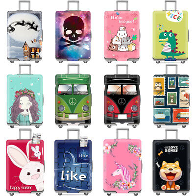 Cute Anti Scratch Luggage Cover Elastic Protective Suitcase Skin Cover Dustproof