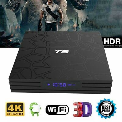T9 Smart TV Box RockChip3328 Android 8.1 4GB+64GB WiFi 4K USB3.0 H.265 Quad Core