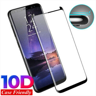 10D Tempered Glass Screen Protector Cover For Samsung Galaxy S9 S8 Plus Note 9/8