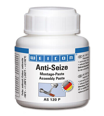 WEICON Anti-Seize AS 120P 120 g, Pinseldose Antifestbrennpaste (26000012)
