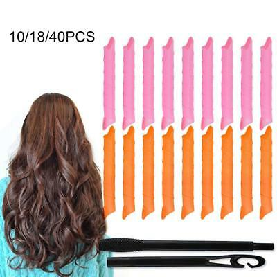 Magic Hair Curlers Long Spiral Rollers Set Easy Fast DIY Tool No Heat Ringlets
