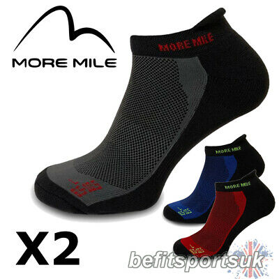 More Mile Mens Womens Ladies Pace Ankle Running Sports Gym Cushioned Socks 2