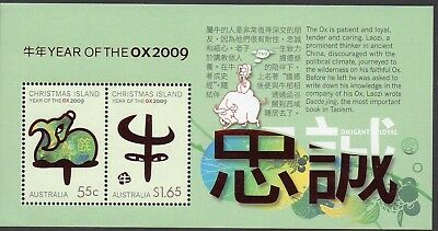 CHRISTMAS Is, 2009 YEAR OF THE OX MINISHEET MNH