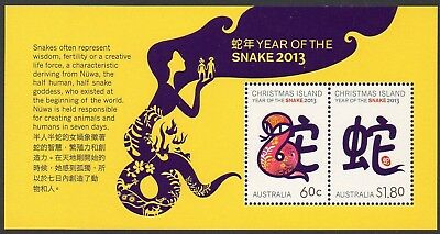 CHRISTMAS Is, 2013 YEAR OF THE SNAKE MINISHEET MNH