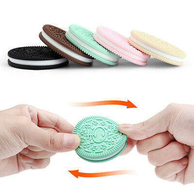 Baby Safety Silicone Teether Toy Food Grade Silicone Cookies Chewy Toy Teeth